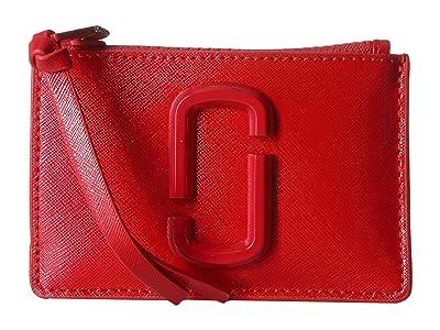 Marc Jacobs Snapshot DTM Top Zip Multi Wallet (Geranium) Wallet Handbags