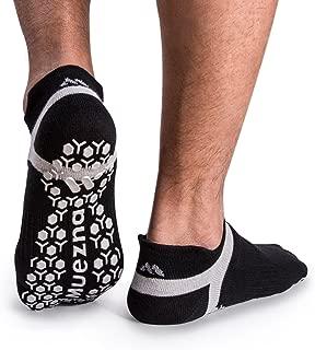 Men's Non-Slip Yoga Socks, Anti-Skid Pilates, Barre, Bikram Fitness Hospital Slipper Socks with Grips