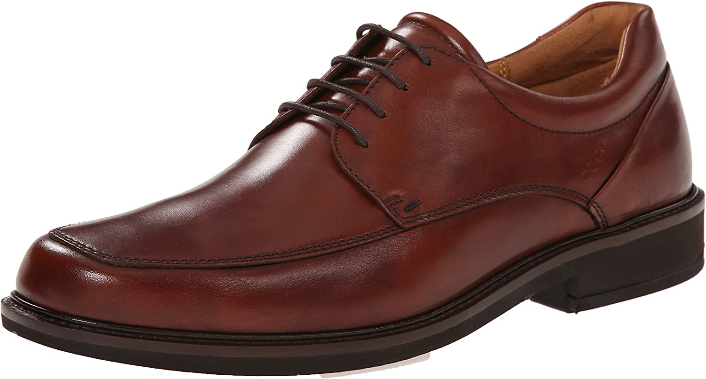 ECCO shoes Men's Holton Apron Toe Oxford, Cognac, 41 EU 7-7.5 M US