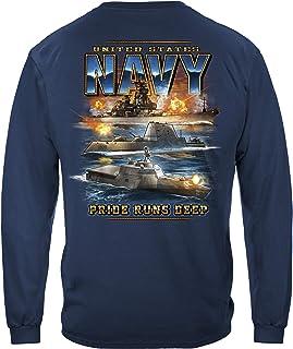 Erazor Bits US Navy Pride Runs DEEP T Shirt MM2350
