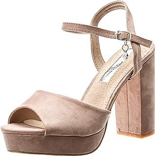 XTI 35000, Zapatos con Tira de Tobillo para Mujer