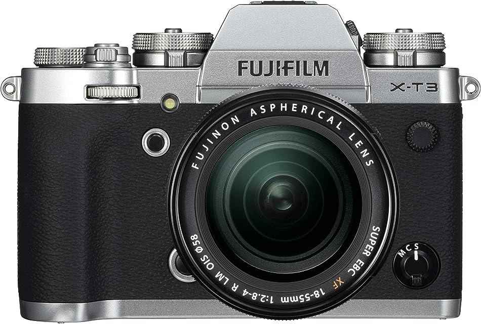 Fujifilm X-T3 - Cámara de objetivo intercambiable sin espejo con sensor APS-C de 261 Mpx video 4K/60p DCI pantalla táctil WIFI Bluetooth plata Kit con objetivo XF18-55mm F2.8-4 R LM OIS