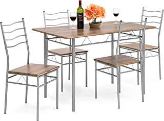 Best Choice Products 5-Piece Wooden Kitchen Table Dining...