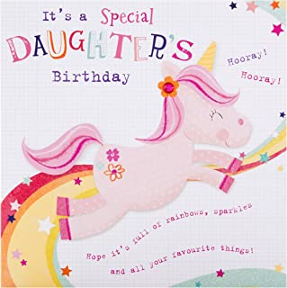 Hallmark Birthday Card for Daughter - Cute Unicorn Design