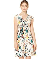 Painterly Bloom Fit & Flare Dress