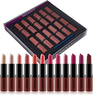 SHANY Lipstick Set of 12 Long-lasting and Moisturizing Creamy Colors with Various Finishes - Cool Kisses