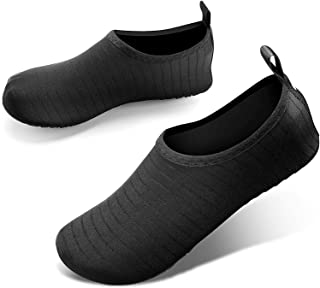 JOTO Water Shoes for Women Men Kids, Barefoot Quick-Dry Aqua Water Socks Slip-on Swim Beach Shoes for Snorkeling Surfing K...