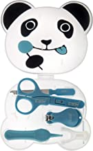 U-GROW Panda Manicure Set with Nail Clipper, Scissors & Delicate File Kids Nail Care Safety for Newborn, Infants (Blue)