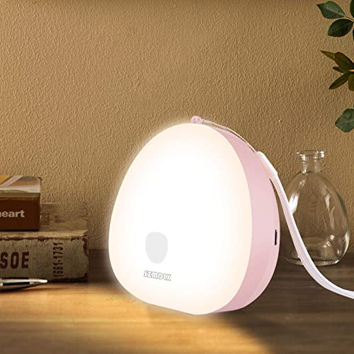 SZMDLX LED Night Light, Dimmable Portable Touch Control Bedside Lamp, USB Rechargeable, 3 Colors Modes for Bedroom Li...