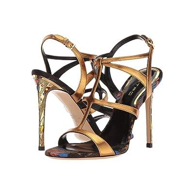 Etro Metallic Strappy Heel (Gold) Women