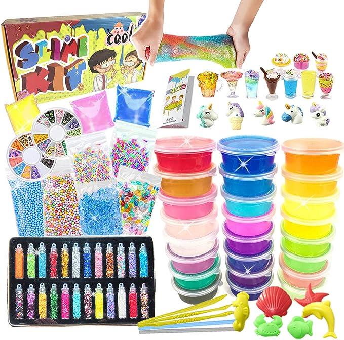 886 opinioni per Slime Kit- Fai da Te Slime Making Kit con 24 Colori Melma Cristallina, Ciondoli