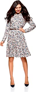 oodji Collection Women's Belted Viscose Dress