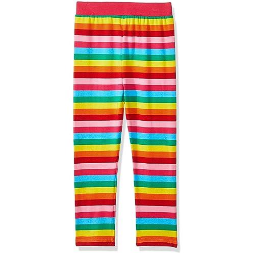 ec7ab472ed8f5 VIKITA Girls Rainbow Stripe Leggings Cotton Flower Long Spring Summer Pants  for 2-8 Years