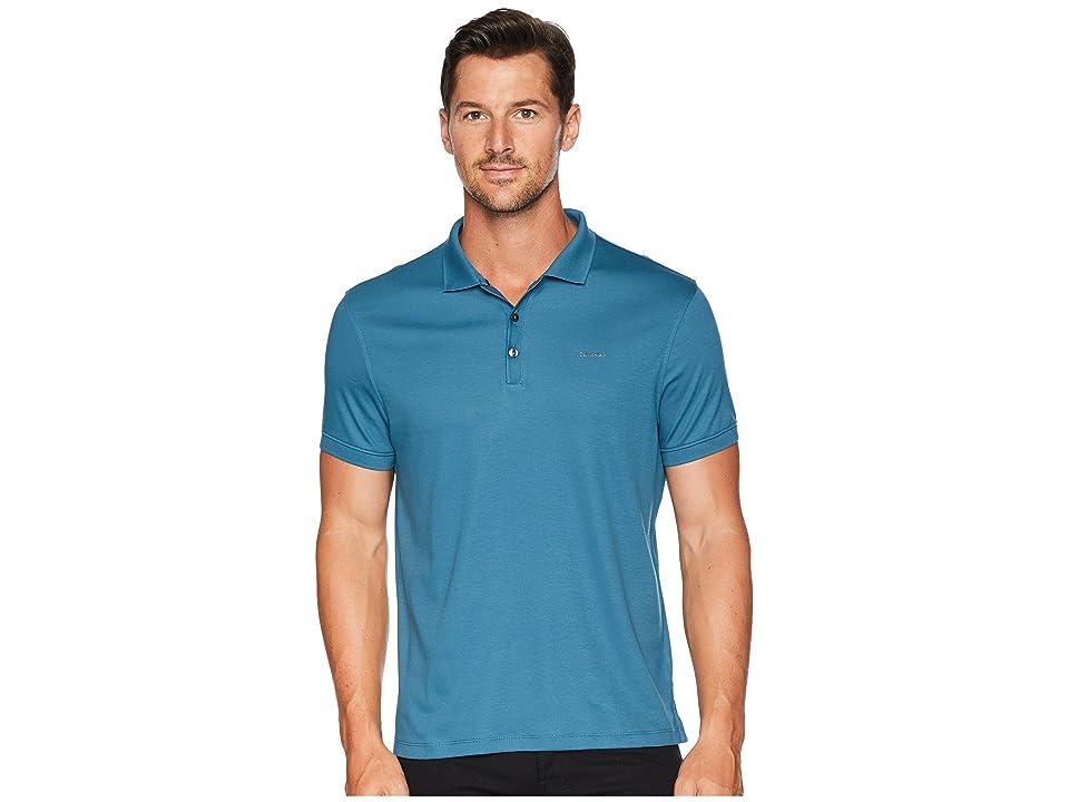Calvin Klein Liquid Touch Polo Shirt (Tunisian Tile) Men