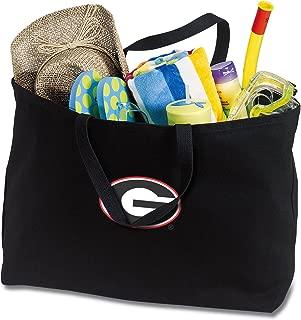 Jumbo Georgia Bulldogs Tote Bag or Large Canvas University of Georgia Shopping Bag