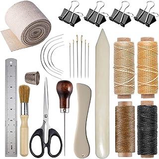 Bookbinding Kits, VENCINK Bookbinding Supplies Hand Book Binding Starter Tools Kit with Genuine Bone Folder Creaser, Paper...