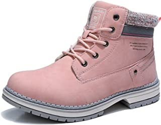 AX BOXING Women Boots Leather Outdoor Anti-Slip Ankle Hiking Boot