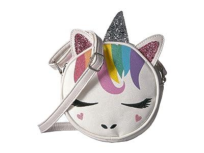 OMG! Accessories Glitter Rainbow Unicorn Crossbody (White) Cross Body Handbags