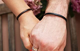 Leather Anniversary Gift For Her and Him Matching Bracelets for Couples