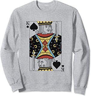 King of Spades - Playing Cards Easy Halloween Costume Sweatshirt