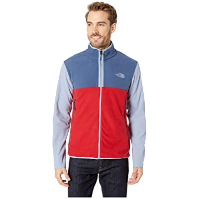 The North Face Glacier Alpine Jacket (Rage Red/Shady Blue/Gull Blue) Men