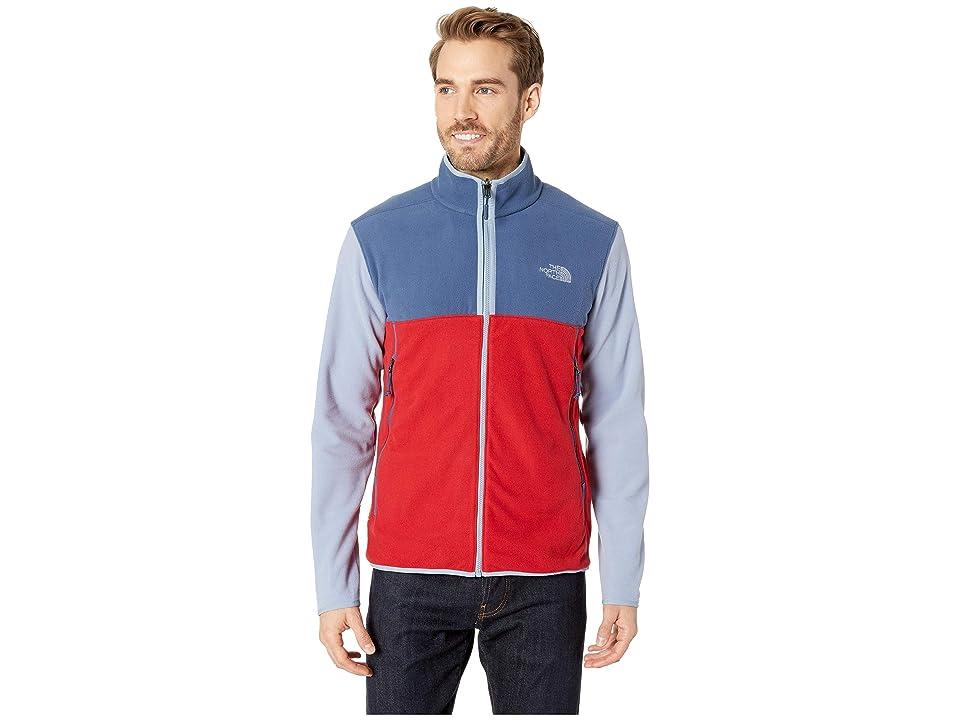 The North Face Glacier Alpine Jacket (Rage Red/Shady Blue/Gull Blue) Men