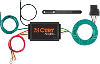 CURT 56146 Powered 3-to-2-Wire Splice-in Trailer Tail Light Converter with 4-Pin Wiring Harness