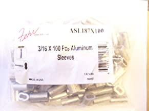 Aluminum Swage Sleeves for 3/16