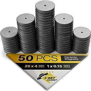 X-bet MAGNET TM 50 pcs Craft Magnets! Refrigerator Fridge Magnets 1 Inch (25mm) - Round Disc Magnets for DIY, Craft Hobbie...