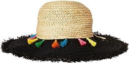 San Diego Hat Company - RBL4825OS Ribbon Brim w/ Raffia Braid Crown