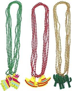 Cinco de Mayo Fiesta Necklaces Bead- Mexican Birthday Party Favors Supplies Decorations