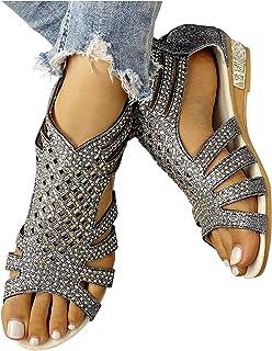 wlczzyn Sandals for Women Dressy,Women's 2021 Comfy Gladiator Casual Sandal Shoes Summer Beach Travel Slipper Flip Flops