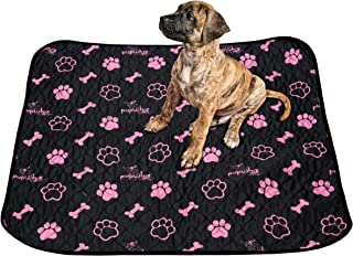 PUPWHIZ Washable Pee Pads for Dogs | Reusable Urine Incontinence XL Mats 30x36 | 2 Pack for Potty Training and Whelping in Playpen & Kennel Crate | Ideal for Bowls Placemat & Pet Feeding