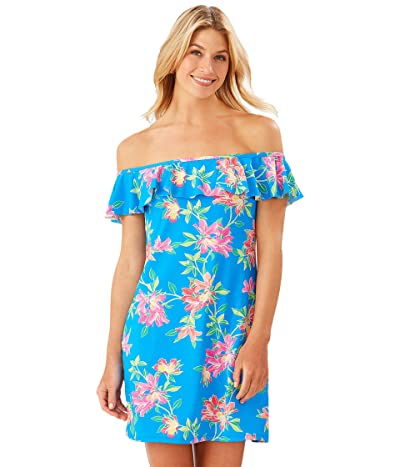Tommy Bahama Sun Lilies Ruffle Spa Dress (Azure Blue) Women