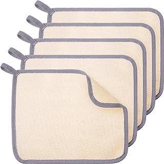 5 Pieces Exfoliating Face and Body Wash Cloths Towel Soft Weave Bath Cloth Exfoliating Scrub Cloth Massage bath Cloth for ...