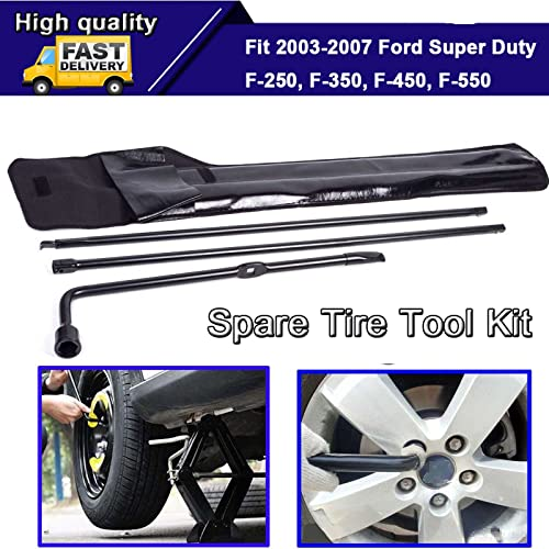 lowest Bowoshen for Ford Super 2021 Duty F250 F350 F450 F550 Pickup Spare Tire Tools Kit Lug Wrench Set Strong Carbon Steel 8C3Z17005A discount with Black Storage Bag outlet online sale