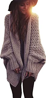 Women Oversized Loose Knitted Sweater Batwing Sleeve...
