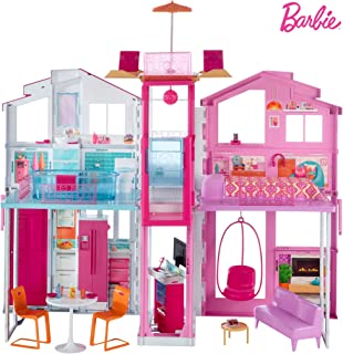 Barbie 3-Story House with Pop-Up Umbrella!