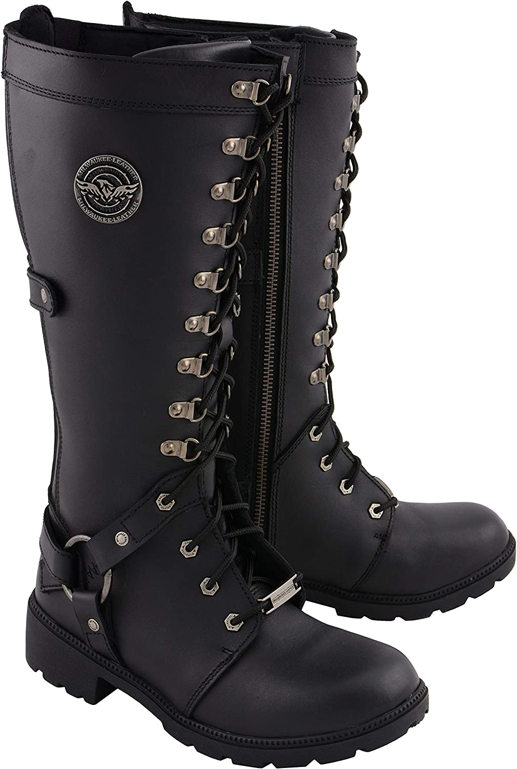 Weekly update New life Milwaukee Leather MBL9380 Women's 15 S Black Combat Inch