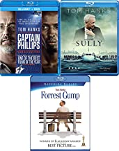 Ships Planes & Tom Hanks Captain Philips Sully & Forrest Gump Actor 3-Movie Collection Blu Ray Film Bundle Set
