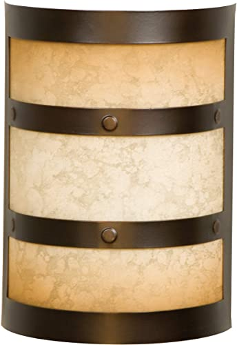 """2021 Craftmade CH1415-OBG Designer Metal and Glass Door Chime, Oiled 2021 Bronze Gilded outlet online sale (9.5""""H x 6.75""""W) outlet online sale"""