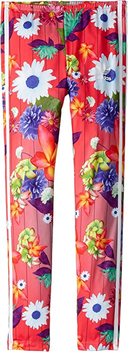 adidas Originals Kids - Floral Graphic All Over Print Leggings (Little Kids/Big Kids)