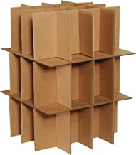 Boxes Fast BFPARTKIT Dish and Stemware Partition Kit, Includes 3 Partitions and 2 Layer Pads, for Shipping, Moving, Packing or Storage, Kraft