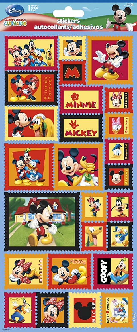 Sandylion Mickey and Friends Paper Sticker, 5.5 by 12-Inch