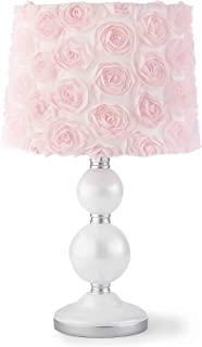 Levtex Baby Elise Grey and Pink Floral Lamp Base and Shade