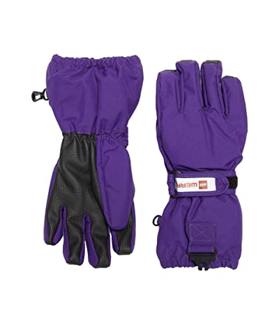 LEGO Kids Snow Gloves with Anti-Slip Grip Membrane (Little Kids/Big Kids) (Dark Purple) Over-Mits Gloves