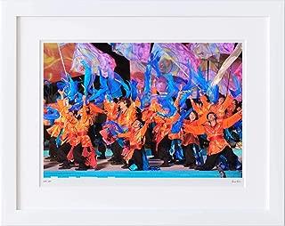 【写真工房アートフォト 額装写真】 YOSAKOIソーラン祭り/北海道 札幌市(ホワイト 通常サイズ 426mm×336mm)