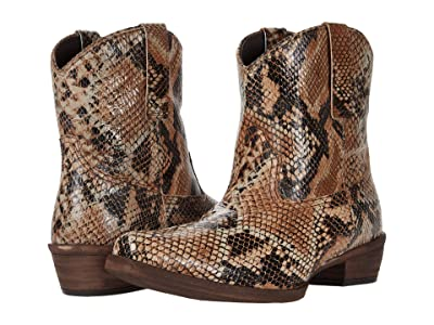 Roper Dusty Python (Printed Python Leather Vamp) Cowboy Boots