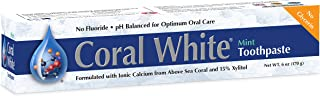 Coral White - Coral White Mint Toothpaste Natural Fluoride SLS Free Coral Calcium Remineralizing Toothpaste (1 Pack)