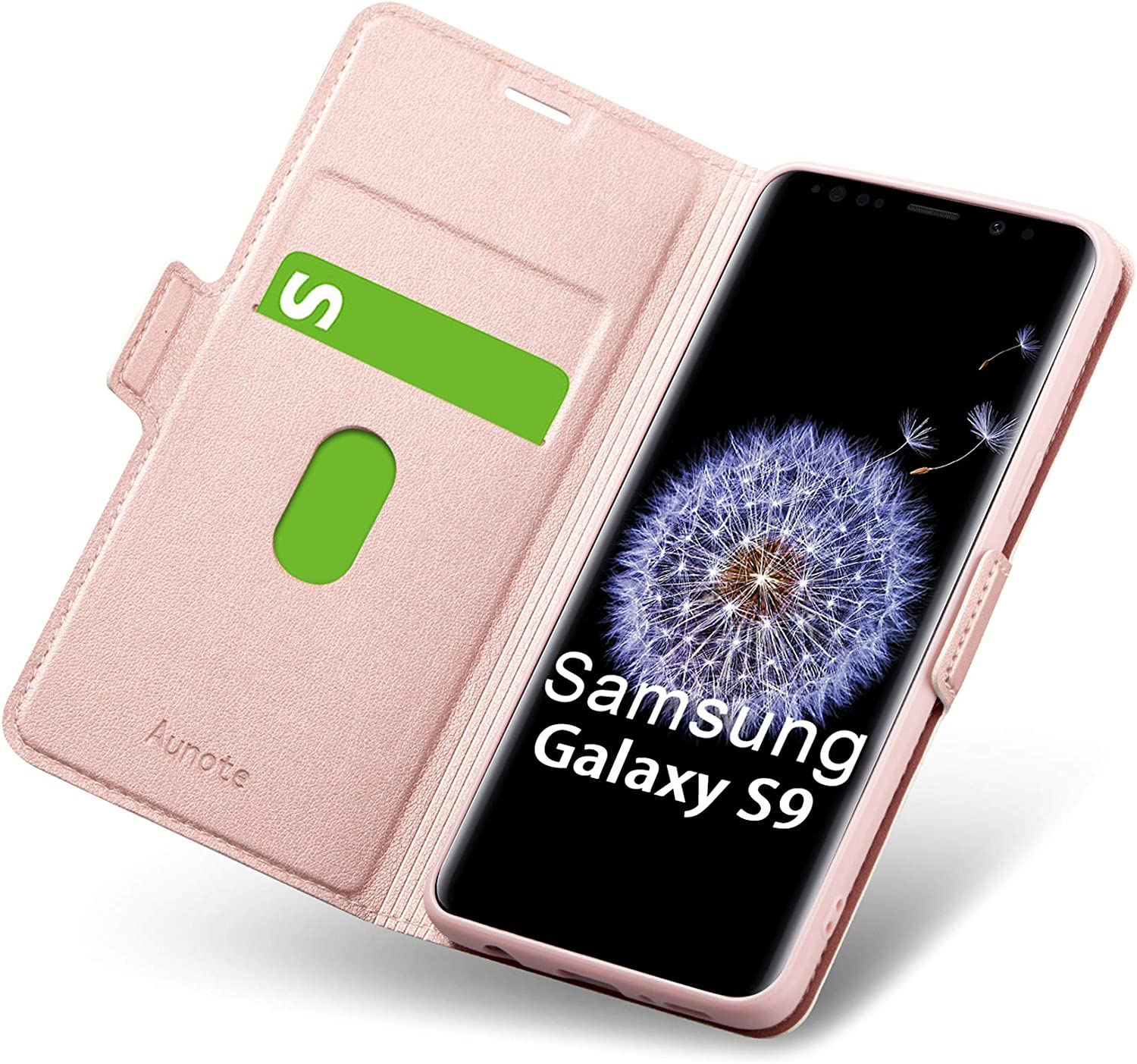 Samsung S9 Case Wallet Style, Galaxy S9 Wallet Case with Card Slot, Ultra Slim Flip Folio PU Leather Samsung Galaxy S9 Case, Full Protection S9 Phone Cover for Galaxie 5.8